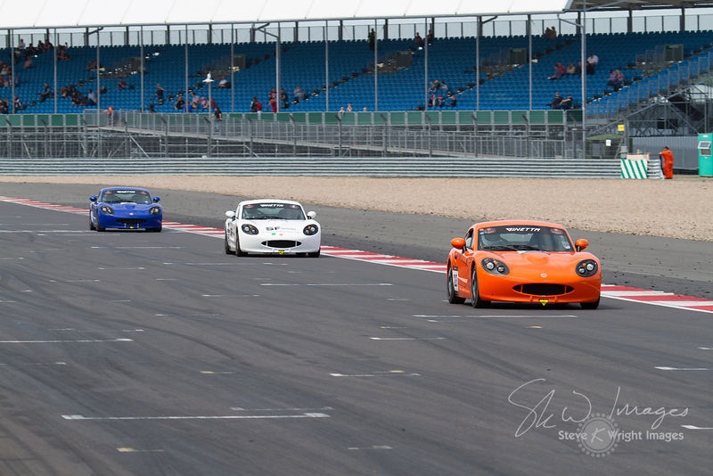 Action from the Ginetta support races at the Silverstone 500 - the third round of the British GT Championship 2014 - 1st June 2014