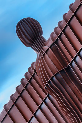 Angel of the North close up.