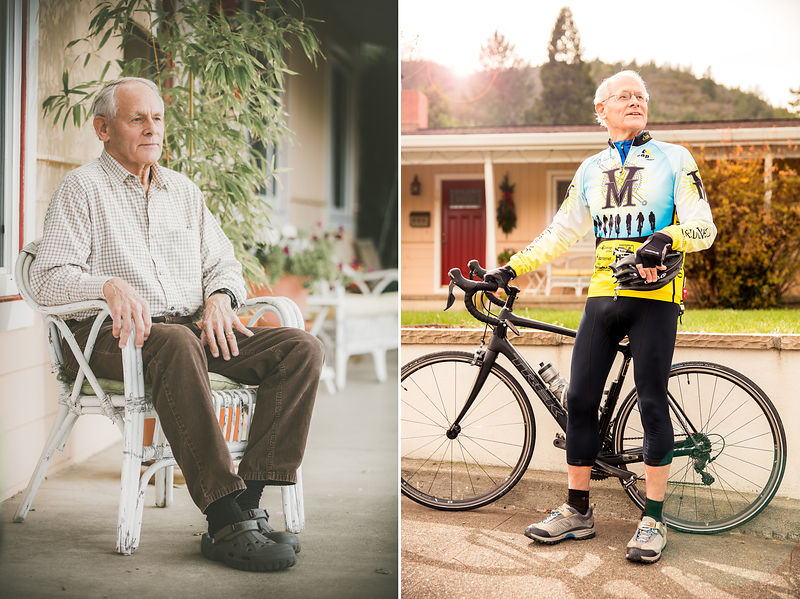 Defying age. Commercial healthcare photography of baby boomer generation by Jason Tinacci