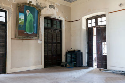 India - Pondicherry - The derelict Hotel du Ville that has been saved by INTACH (Indian National Trust for Art and Cultural Heritage)