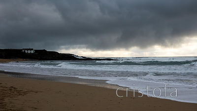 dark clouds over Constantine Bay