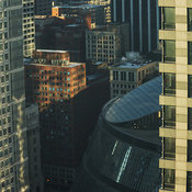 View of the James R. Thompson Center looking south west, Chicago, Illinois, USA