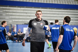 Dainis KRISTOPANS of Meshkov Brest during the Final Tournament - Final Four - SEHA - Gazprom league, training, Varazdin, Croatia, 31.03.2016, ..Mandatory Credit ©SEHA/Zsolt Melczer..