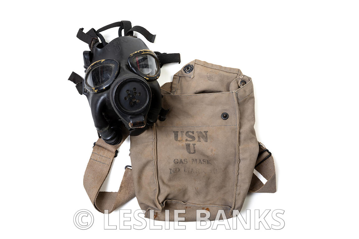 Gas Mask and Canvas Bag