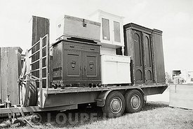 Wardrobes on trailer