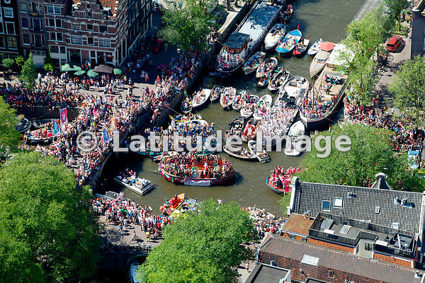 HollandLuchtfoto: It's a Pride Party in Amsterdam!  aerial photos