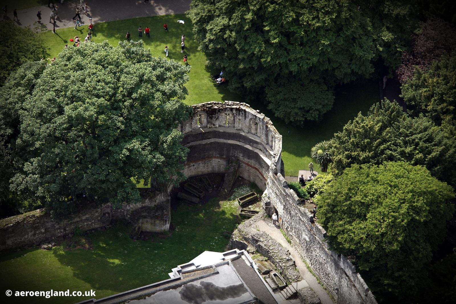 aerial photograph of the Multiangular Tower, York England UK