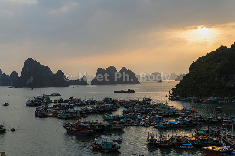 CAI RONG, BAIE DE HA LONG, VIETNAM//Vietnam, Ha Long Bay, Cai Rong Fishing Port