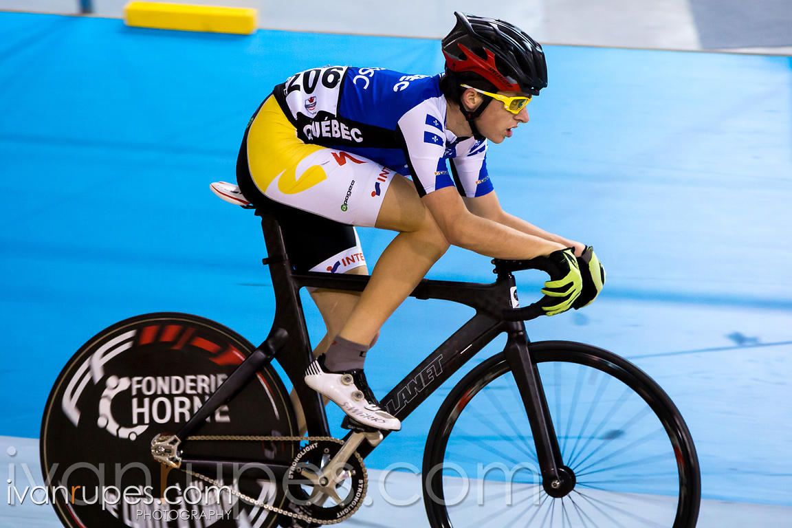 Junior Men Omnium Points Race. 2015 Canadian Track Championships, October 11, 2015