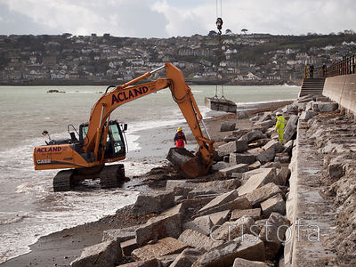 repairs to Penzance storm-damaged seafront