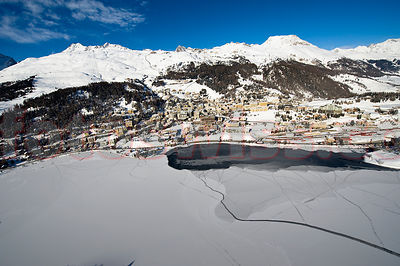 St.Moritz Airview Winter photos