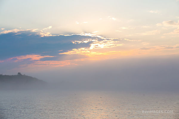 FOGGY SUNSET CAPE ANN MASSACHUSETTS COLOR HORIZONTAL