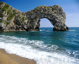 beach and durdle door lulworth dorset england