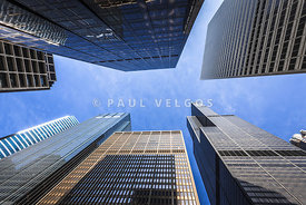 Chicago Buildings Upward View with Willis-Sears Tower