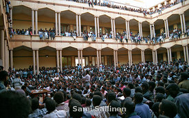 Haile Woldetensae at university 2