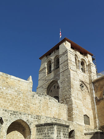 Crusader belfry of the Church of the Holy Sepulchre, Jerusalem, Israel