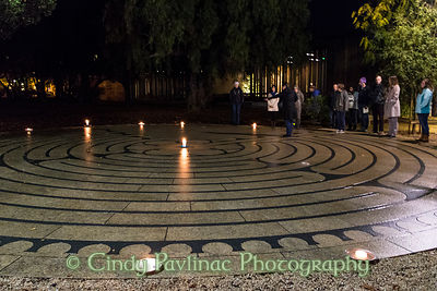 Candlelit Windover Labyrinth Stanford