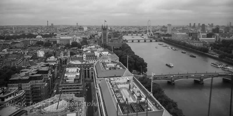 View from high above London, England, June 2013