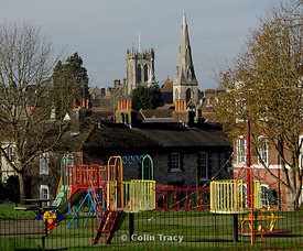 Salisbury Fields and Church Towers, Dorchester