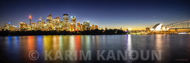 Panorama - Sydney skyline by night