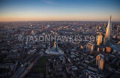 Aerial view of London Empire Square development with Borough.