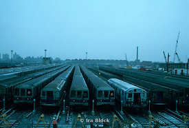 Subway yard, Brooklyn, New York