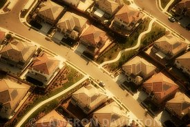 Aerial of Northern California suburbs