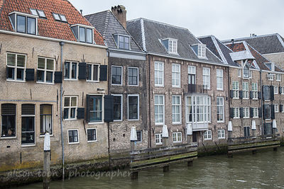 Dodrdrecht old town, seen from the water