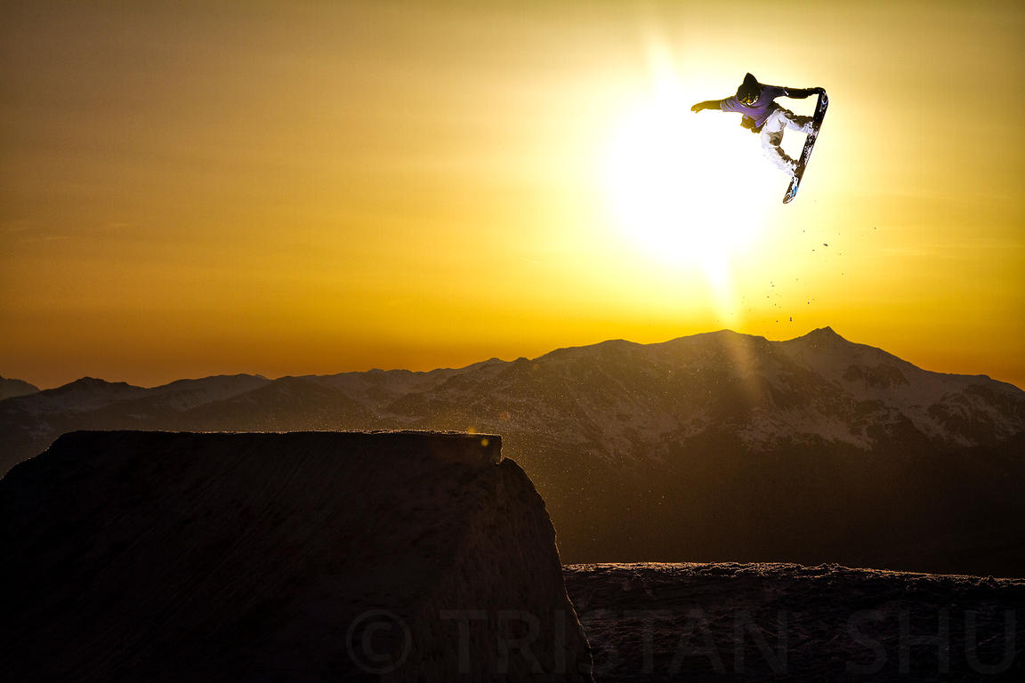 Tail Grab at Sunset