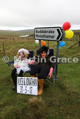 Alice and Jonathan marrying today! Charming pointer to the wedding, Unst, Shetland, May 31 2017