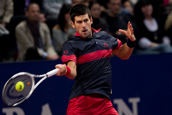 BASEL: ATP Indoor Tennis Match N. Djokovic vs R.Federer