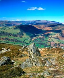 view of the black mountains from the summit of sugarloaf mountain abergavenny south wales