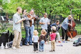 groupe de jazz Dixieland à Washington Square