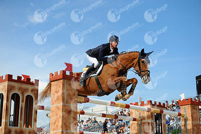 Daniel DEUSSER ,(GER), FIRST CLASS VAN EECKELGHEM during Longines Cup of the City of Barcelona competition at CSIO5* Barcelona at Real Club de Polo, Barcelona - Spain