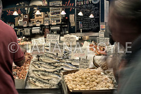 Seafood stand at Pike Place Market