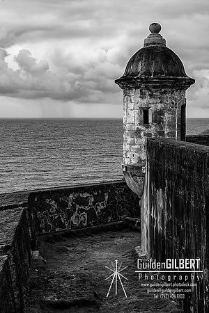 El Morro Castillo - Sentry Post - B&W