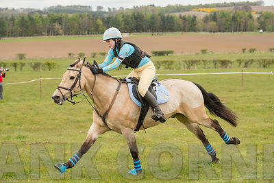 Glenmorangie, Georgina winnin pony race at Balcormo point-to-point on 29Apr2017.