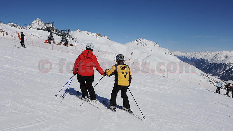 Stock Ski School for the Blind St.Moritz photos