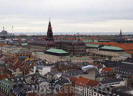 The grand Christiansborg Palace