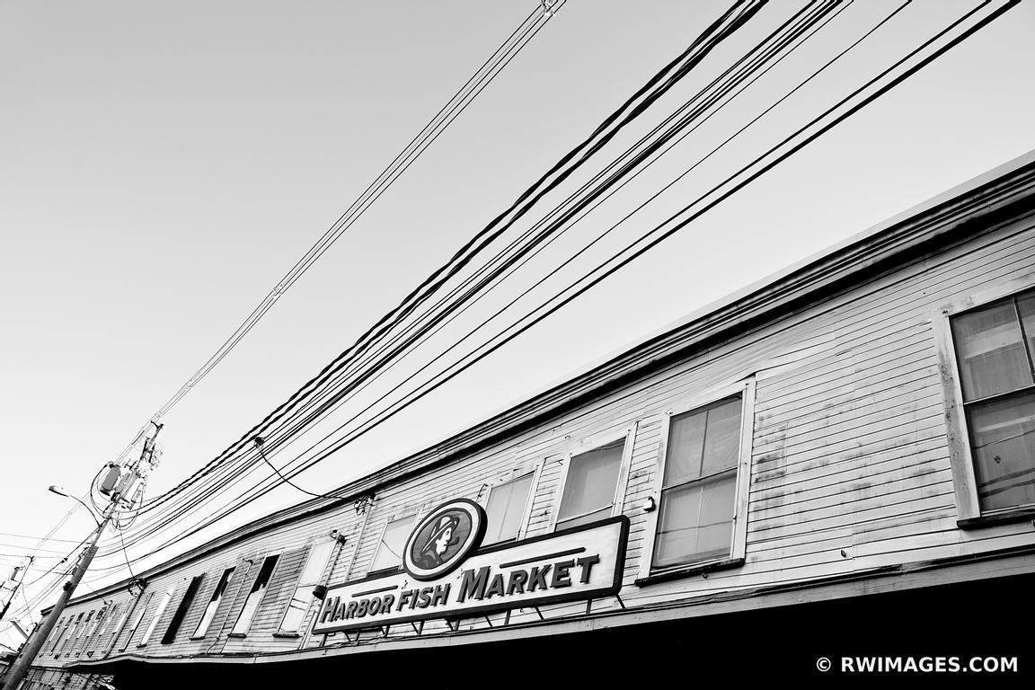 Photo print of harbor fish market portland maine black and for Fish market portland maine