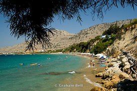 main beach pefkos lindos rhodes dodecanese islands Greece
