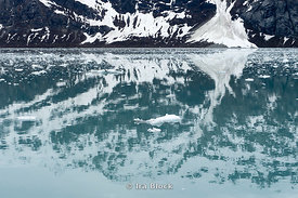 Reflection of glacier in Glacier Bay National Park.