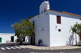 17th Century Nuestra Señora de los Remedios church, Yaiza, Lanzarote, Canary Islands, Spain.
