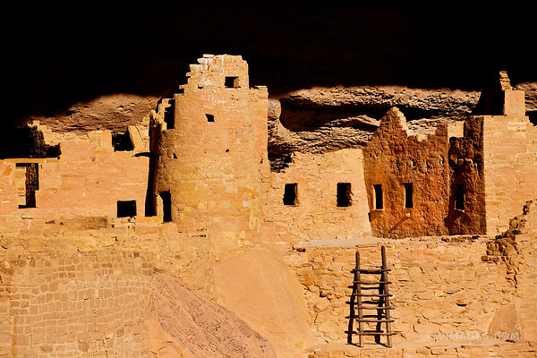 CLIFF PALACE MESA VERDE NATIONAL PARK COLORADO COLOR