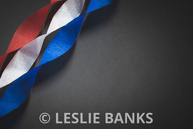 Red White and Blue Crepe Paper Border