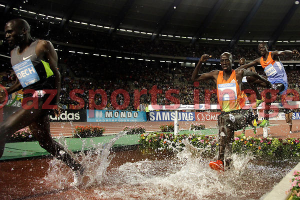BRUSSELS, BELGIUM - SEPTEMBER 7: Brimin Kiprop Kipruto (KEN) wins the 3000m SC at theIAAF Golden League meeting at the Memorial Van Damme Stadium. Photo by Angelos Zymaras / az sports images