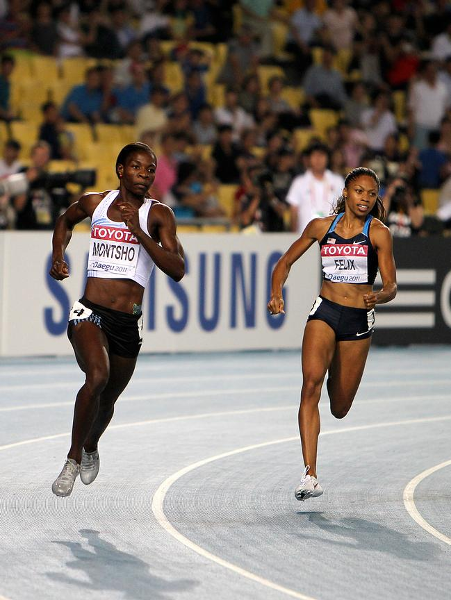 Amantle Montsho (BOT) and Allyson Felix (USA)