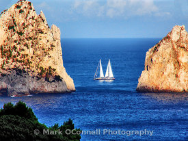 Sailing past Capri
