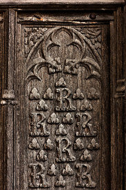 Bourges cathedral wooden door