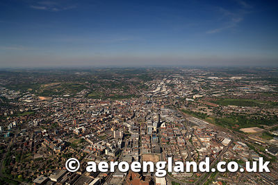 aerial photograph of Sheffield  South  Yorkshire,  England UK